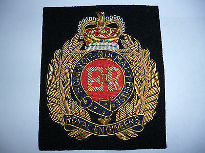 The  Royal Engineers Post 1952 Queens Crown Style Blazer Badge.