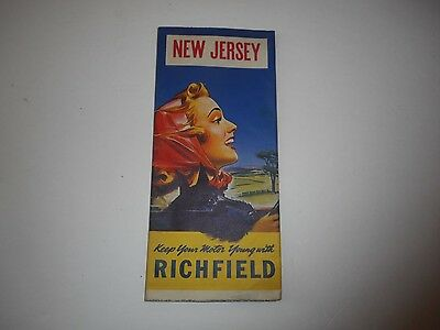 Vintage Richfield New Jersey Road Map
