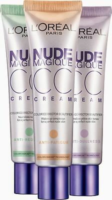 L'Oreal Paris Nude Magique CC Cream 30ml - 3 Types