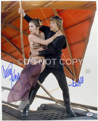 Star Wars Mark Hamill and Carrie Fisher Signed Autographed 8x10 Reprint