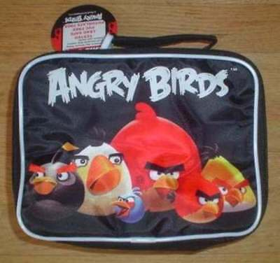 NWT Angry Birds Black SchoolLunch BagKit BoxNEW