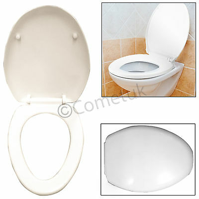 NEW Quick Release Soft Close Heavy Duty White Toilet Seat Bathroom Round Oval UK