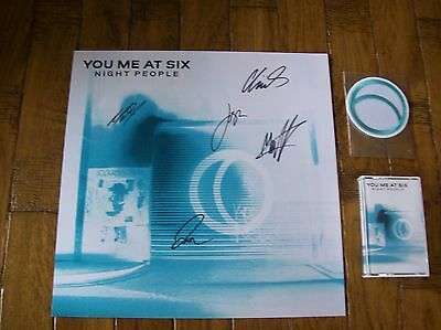 You Me At Six - Night People Signed Artwork Cassette & Patch