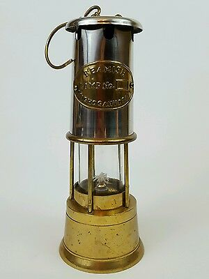 Miners Oil Lamp Copper Stainless Steel Beamish Maghogany Drift Welsh repro