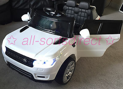 2017 Model Range Rover Sport Hse Style 12V Electric Kids Ride On Jeep Car White