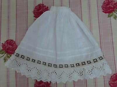 Dolls Edwardian Lace Trim Skirt Early Mid Century Outfit Clothes Vintage Antique
