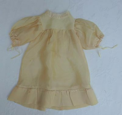 Dolls Silk Party Dress Frock Early/Mid Century Outfit Clothes Vintage Antique