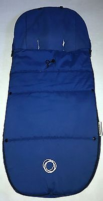 Bugaboo Universal Footmuff In Blue With Toggle   Free Postage