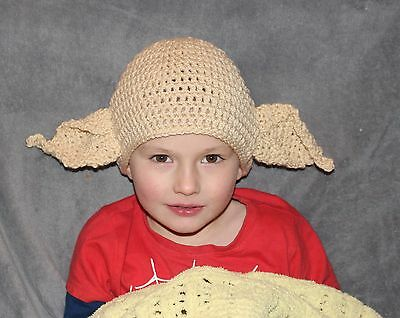 crochet yoda dobby house elf star wars harry potter hat photo props 0/adult,gift
