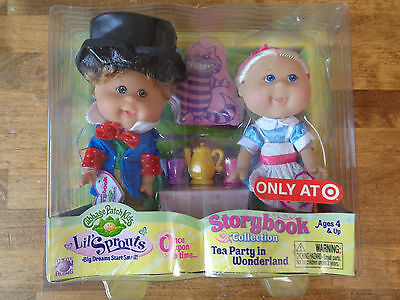 2008 Lil Sprouts Cabbage Patch Kids Storybook Tea Party In Wonderland Sealed