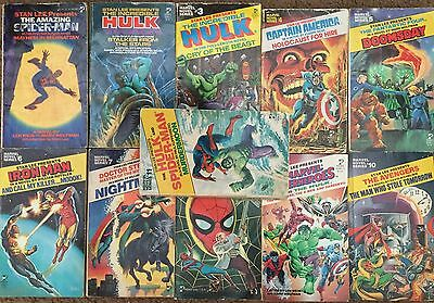 Marvel Novel Series #1 -11, Spider-Man Hulk Captain America 2 3 4 5 6 7 8 9 10