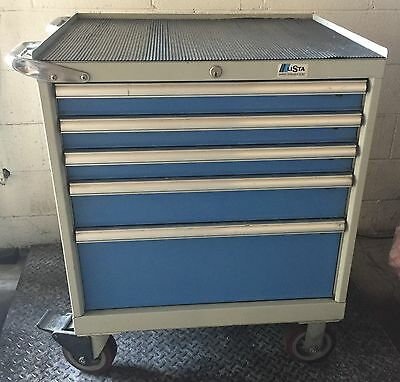 Lista 5 Drawer Mobile Toolbox Storage Cabinet