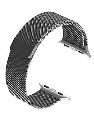 Magnetic Watch Band Strap 42mm Apple iWatch Milanese Stainless Steel Black Metal