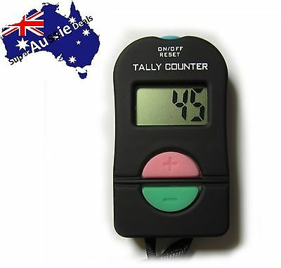 Digital Electronic Hand Tally Head Counter Clicker - Bouncer Crowd Sport Golf