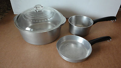 Vintage Hammercraft Club Aluminum 3 Piece Cookware Set