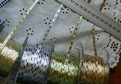 Metallic GOLD & SILVER with Centres 5Metre Lengths 3mm May Arts 4 Choices GX BR4