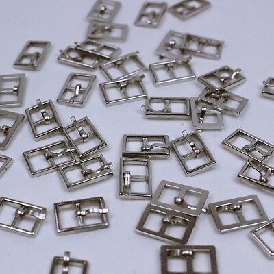 B003A Silver Mini Buckles Doll Clothes Sewing Craft Supply Blythe BJD Barbie