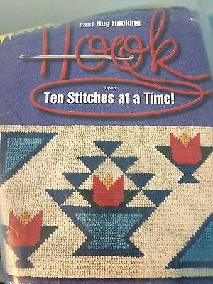 Wonder Hook Rug Kit canvas yarn instructions 2307 Amish Basket 16 by 28