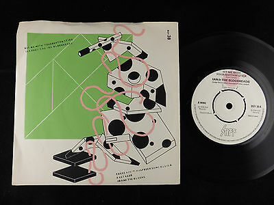 """1978 Ian Dury Hit Me With Your Rhythm Stick UK 7"""" 45 Pic single BUY 38 VG+/NMint"""