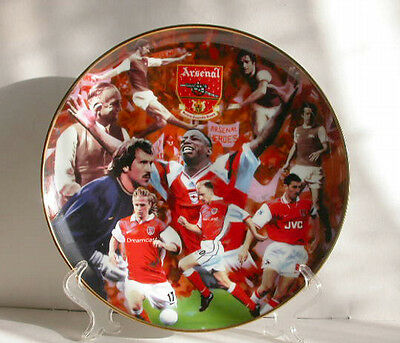 Vtg Arsenal Heroes ceramic plate by R.Perry,ex',A.F.C.,soccer,sports,games,home