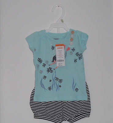 Gymboree Spring/Summer Top & Bubble Shorts Set Baby Girl Size 6- 12  Months NWT