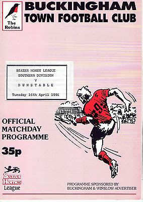 Buckingham Town v Dunstable Town - Beazer Homes League Southern Div - 16-04-1991
