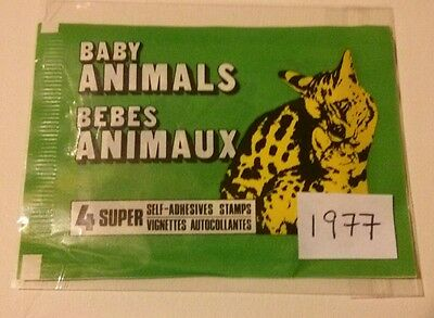 1977 Baby Animals (1) Very Rare Wax Pack of 4 album stickers - Last one!