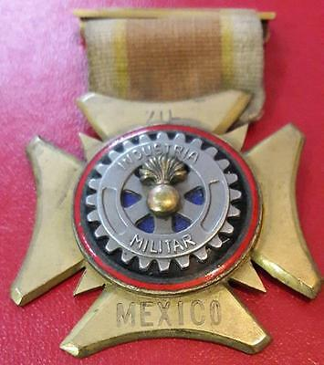 Mexico Industria Militar 20 1920? With Ribbon and Pin back