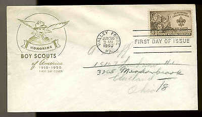 U.S. FDC #995 House of Farnam Cachet Valley Forge, PA Boy Scouts