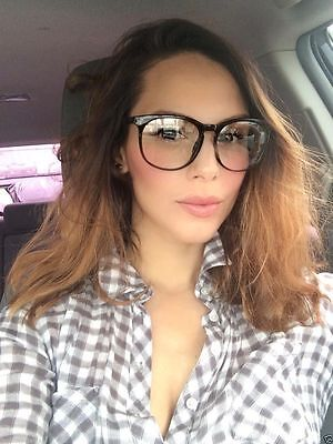 Retro Vintage Huge Big Oversized Round Frame Key Hole Eyeglasses Glasses