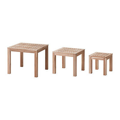 SKOGHALL Nest of tables, set of 3 Acacia - IKEA - Solid Wood - Brand New