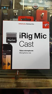 IK Multimedia iRig-Cast Portable Microphone Recorder for iPhone iPad iDevice