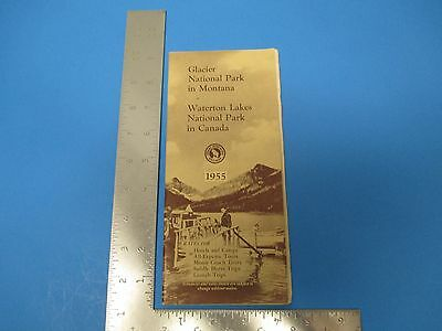Vintage 1955 Glacier National Park Montana Travel Brochure Waterton Lakes S3164