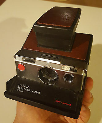 Rare Polaroid SX-70 alpha  - Sears Special TESTED & WORKING
