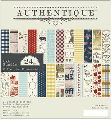 Authentique -  6x6 Paper Pad - Homestead