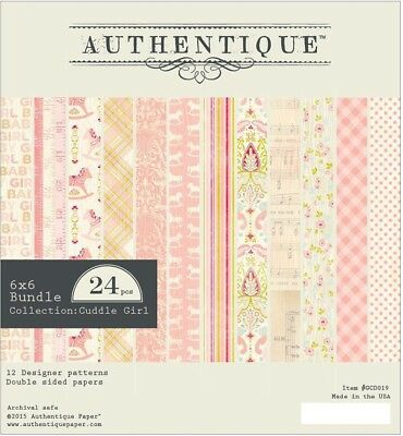 Authentique -  6x6 Paper Pad - Cuddle Girl