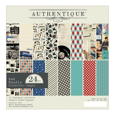 Authentique -  6x6 Paper Pad - Dapper