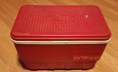 Vintage Coca Cola Red Igloo Cooler Ice Chest Cooler