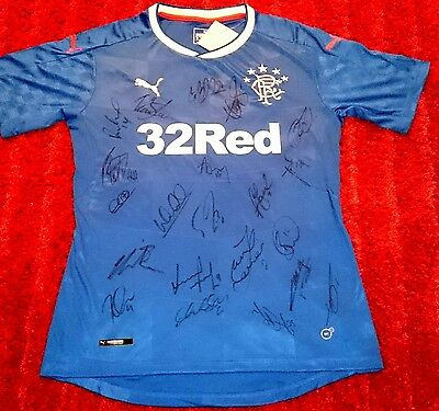 Rangers 16/17 signed shirt / mckay / Wallace / miller / toral / photo proof  COA