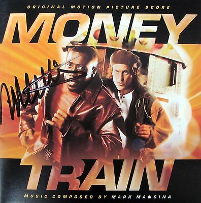 MONEY TRAIN Soundtrack SCORE CD Mark Mancina AUTOGRAPH Signed OOP La-La Land NEW