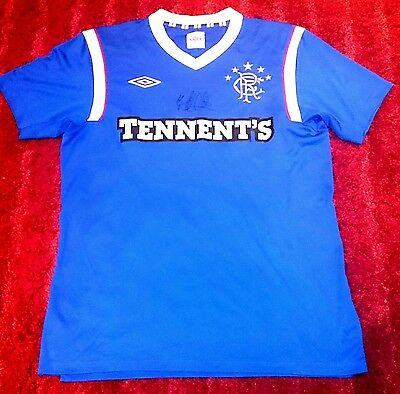 Lee Wallace signed rangers shirt COA