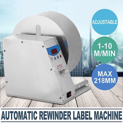 Automatic Label Tags Rewinder Rewinding Machine Industry Printer Bottle GOOD