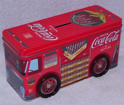 Coca-Cola Delivery Truck Tin Bank, New! -  Great Item For Your Collection!