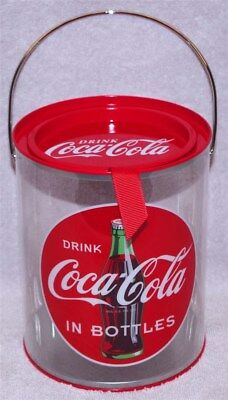 """""""drink Coca-Cola"""" Clear Paint Can Tin, New! Must See! L@@k!"""