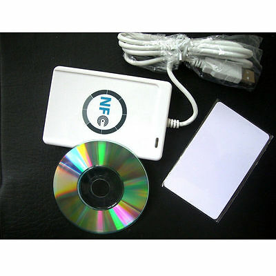 NFC ACR122U RFID Contactless Smart Reader & Writer/USB + 5X Mifare IC Card DC