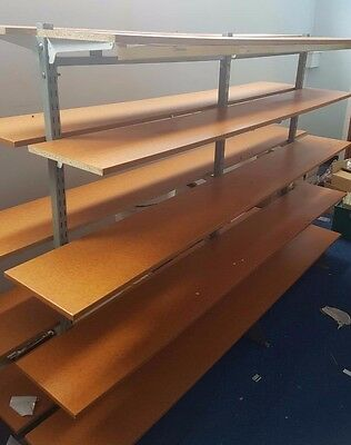 Retail Shop Fittings Freestanding Doublesided Display with 10 Wooden Shelves