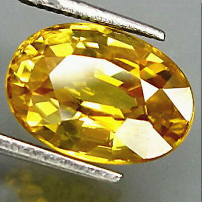 10 x 14mm Yellow Sapphire Gem Oval Shape Natural Loose Gemstone Jewelry Gifts