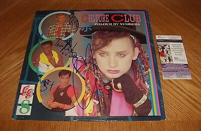 CULTURE CLUB - Colour By Numbers Vinyl LP Record - Band Signed! JSA Certified!