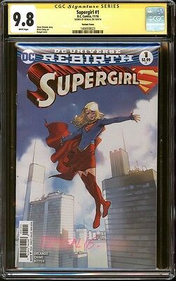 Supergirl #1 variant CGC 9.8 SS Signed Bengal DC Rebirth CW TV Show Superman NM