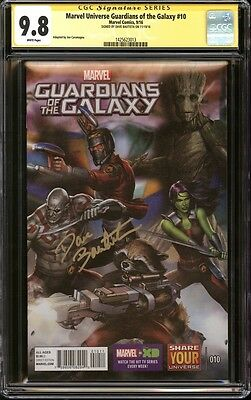 Marvel Universe Guardians of the Galaxy #10 CGC 9.8 SS Signed Dave Bautista Drax